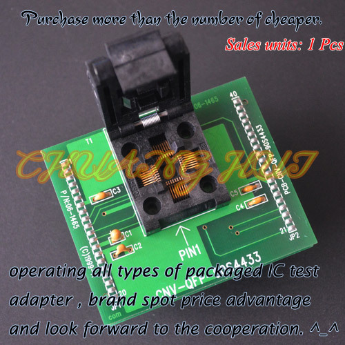 IC TEST CNV-QFP-90S4433 Programmer adapter for ALL-11 Programmer adapter TQFP32/QFP32 adapter test socket