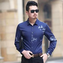 Mens Dress Shirts Flower Print Floral Blouse Men Short-sleeved Hawaiian White black purple
