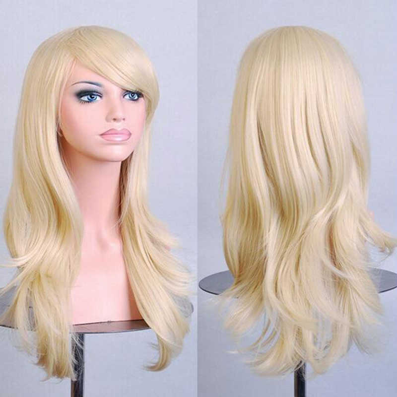 Волосы Soowee 70 см, длинные, розовые, для косплея, синтетические волосы, серые, розовые, блонд, искусственные волосы для черных женщин, Peruk