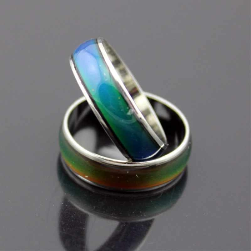 Hot Fashion couple stainless steel ring CAN CHANGE SEVEN COLORS  Rings for women 8CRD169
