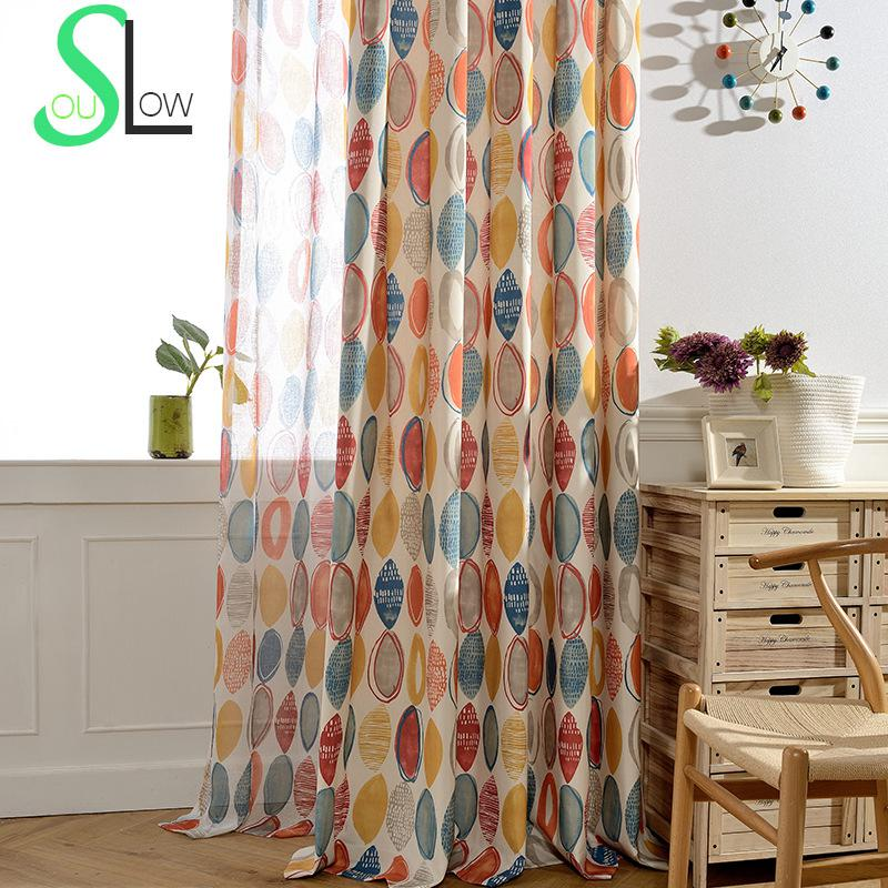 Slow Soul Red Blue Modern Minimalist Printing Jacquard Window Curtain  Curtains For Living Room Tulle Kitchen. Online Get Cheap Red Kitchen Curtains  Aliexpress com   Alibaba Group
