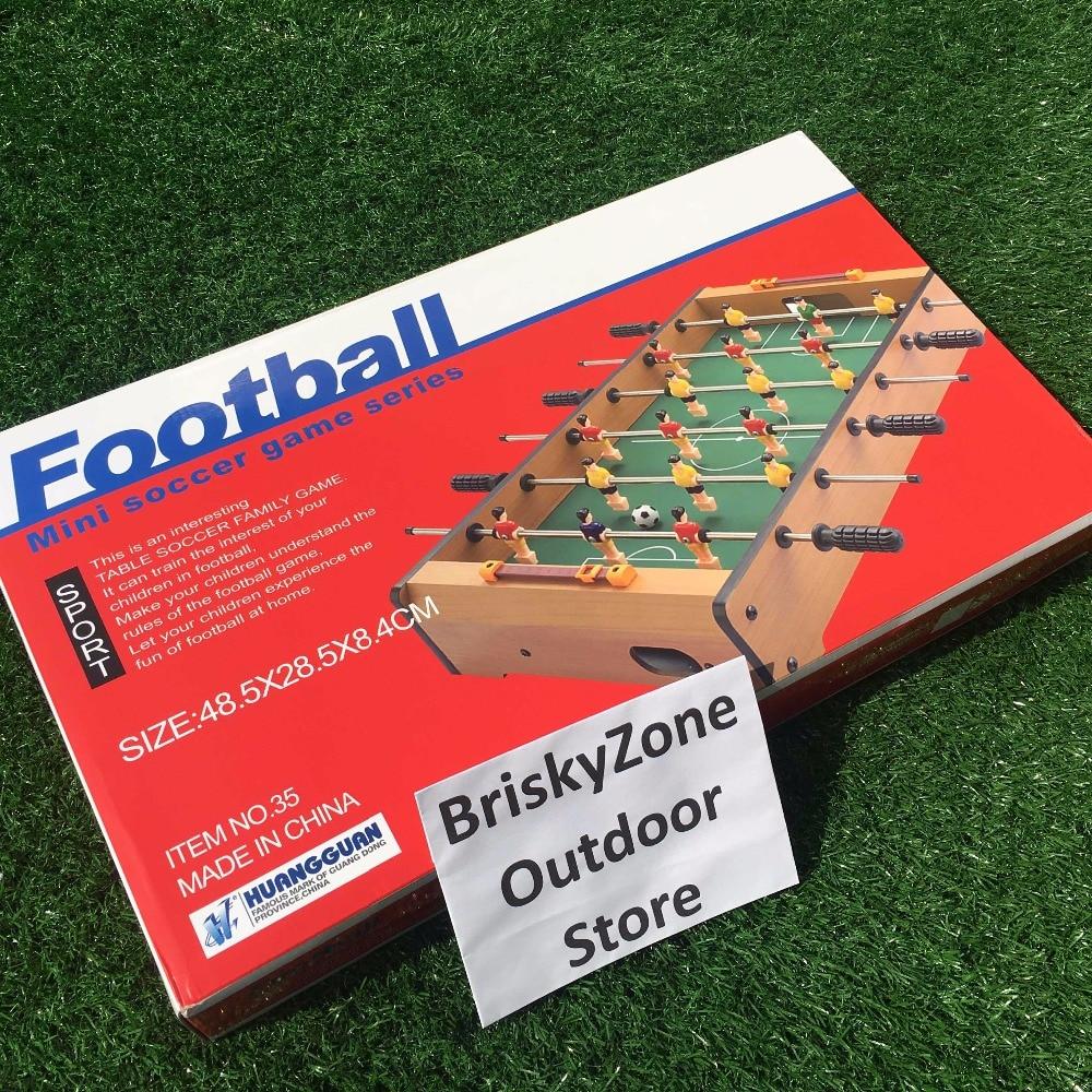 все цены на 2018 Top quality Table Soccer game Football Board Game Table Foosball Set Foosball 6-Pole Tabletop Entertainment 48*28*8.4cm