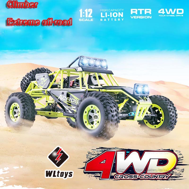 Original Wltoys 12428 RC Car 1/12 Scale 2.4G Electric 4WD Remote Control Car 50KM/H High speed RC Climbing Car 610 349 7518 poa lmp142 original bare lamp for sanyo plc wk2500 plc xd2600 xd2200 plc xe34 plc xk2200 plc xk2600 plc xk3010