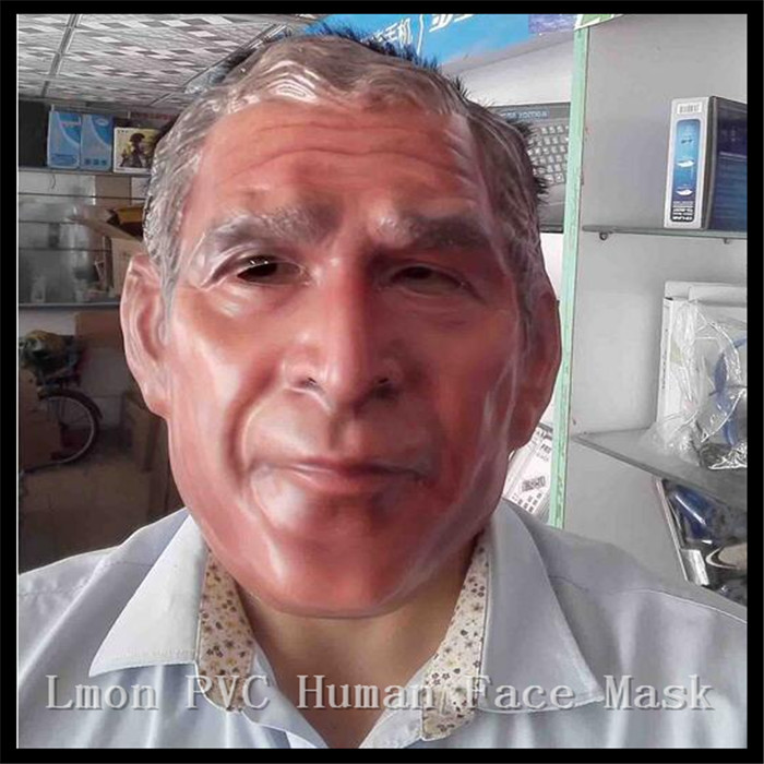 aliexpresscom buy free shipping halloween party cosplay human face mask funny famous bush latex mask halloween costume party usa president mask from - President Halloween Mask