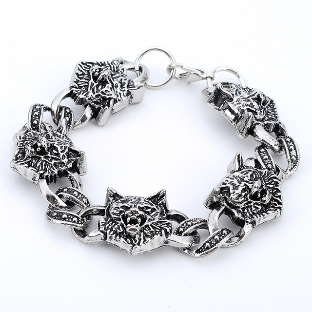 Punk Stainless Steel Wolf...