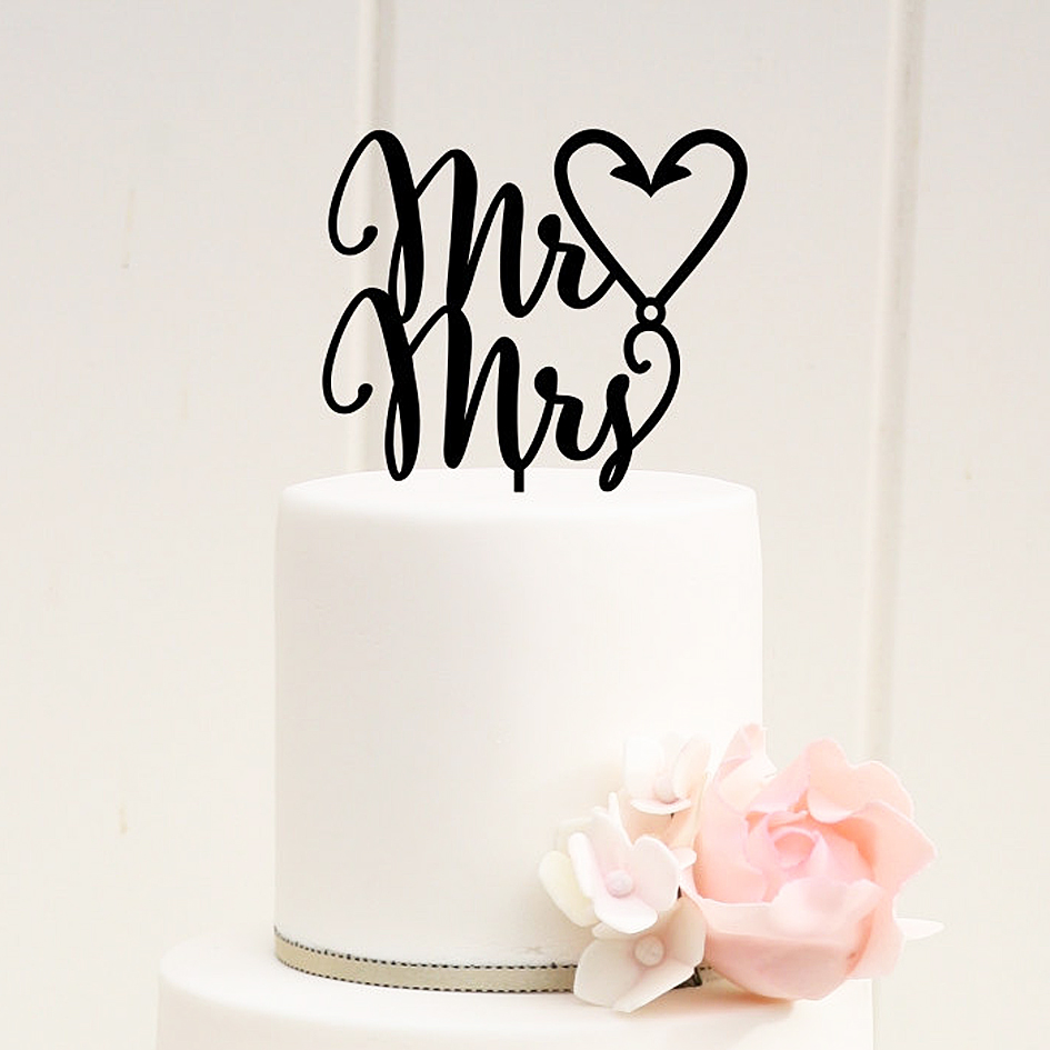 Mr And Mrs Cake Topper Uk