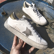 New Women Casual Shoes Glitter Leather Do Old Dirty Shoes Mixed Color  Sneakers Women Sequins Star Golden Fleeces Goose trainers e2de69676f3c