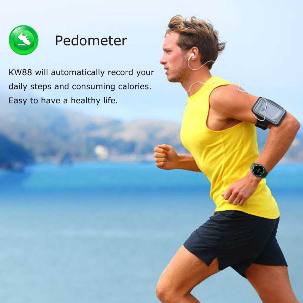 Kaimorui Smart Watch KW88 Heart Rate Pedometer Support SIM card GPS WIFI Smart Band+M2 Smart Wristband Android and IOS Phone