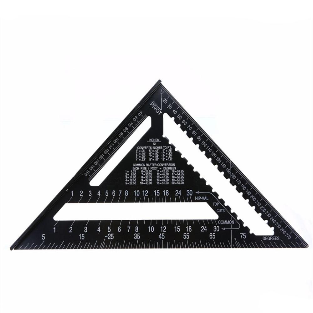 12 pulgadas negro Tri-Regla cuadrada cubierta de aluminio viga ...