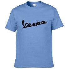Vespa футболка для мужчин забавная Vespa Футболка хлопок Лето короткий рукав круглый вырез футболки для мужчин#194
