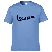 Vespa Vespa T Shirt Men 2017 Divertida Camiseta 100% Algodón de Verano de Manga Corta Cuello Redondo Camisetas Masculino #194