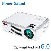 Poner saund 3302 Вт светодиодный проектор для android устройств HD 1280x720 Разрешение 3D для дома кино 1080 p HDMI bluetooth проектор Bluetooth