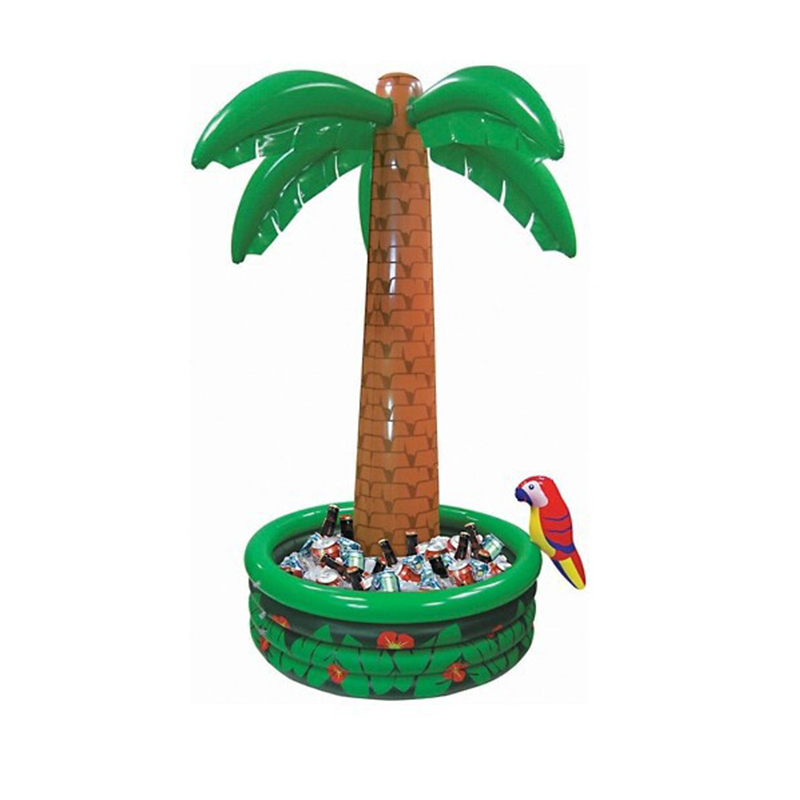 ФОТО 180CM Inflatable Coconut Palm Tree Drinks Cooler Ice Bucket Summer Beach Decorations Swimming Pool Party Favors Hawaii Series