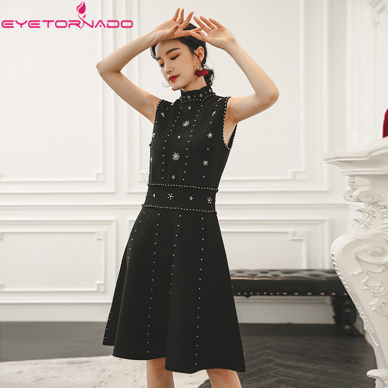 Здесь продается  Women summer sleeveless sexy backless beadings knitted dress ladies elegant work office party ball formal dresses vestidos  Одежда и аксессуары