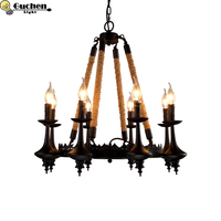 Vintage Chandelier Loft candle Lustre E27 Adjustable Livingroom Lighting For Kitchen Restaurant Chandelier Fixture Lights Halll