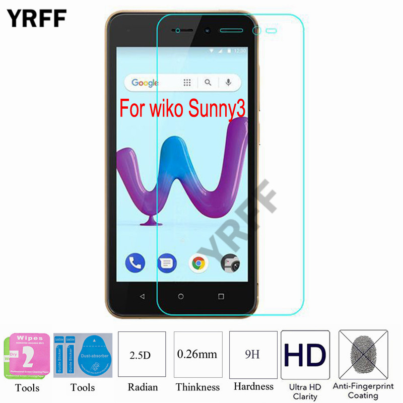 2PCS 2.5D 0.25mm 9H Tempered Glass Screen Protector Protective Film For WIKO Harry 2 Harry2 For WIKO Sunny 3 Sunny3