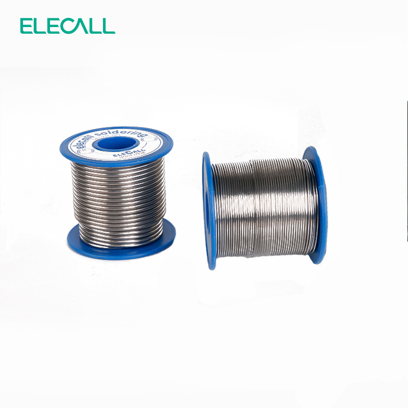 ELECALL New Arrival 41SN Pure Tin 1.2mm 450g Rosin Core Tin/Lead Rosin Roll Flux Reel Lead Melt Core Soldering Tin Solder Wire qitian b5510200g lead tin soldering wire wick roll silver