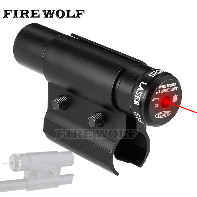 FIRE WOLF Tactical Red Dot Laser Sight Scope With Mount For Pistol Picatinny Rail And Rifle For Airsoft Hunting Shooting
