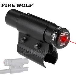 FOGO LOBO Tactical Red Dot Laser Sight Scope Com o Monte Para Pistola Picatinny Ferroviário E Rifle Para Airsoft Caça Tiro