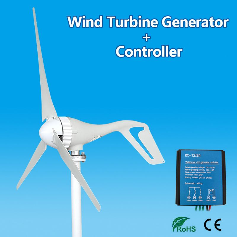 Real 600W Wind Generator+Controller 12V 24 Volt 3 Nylon Fiber Blade Horizontal Home Wind Turbines Power Energy Turbines ChargeReal 600W Wind Generator+Controller 12V 24 Volt 3 Nylon Fiber Blade Horizontal Home Wind Turbines Power Energy Turbines Charge