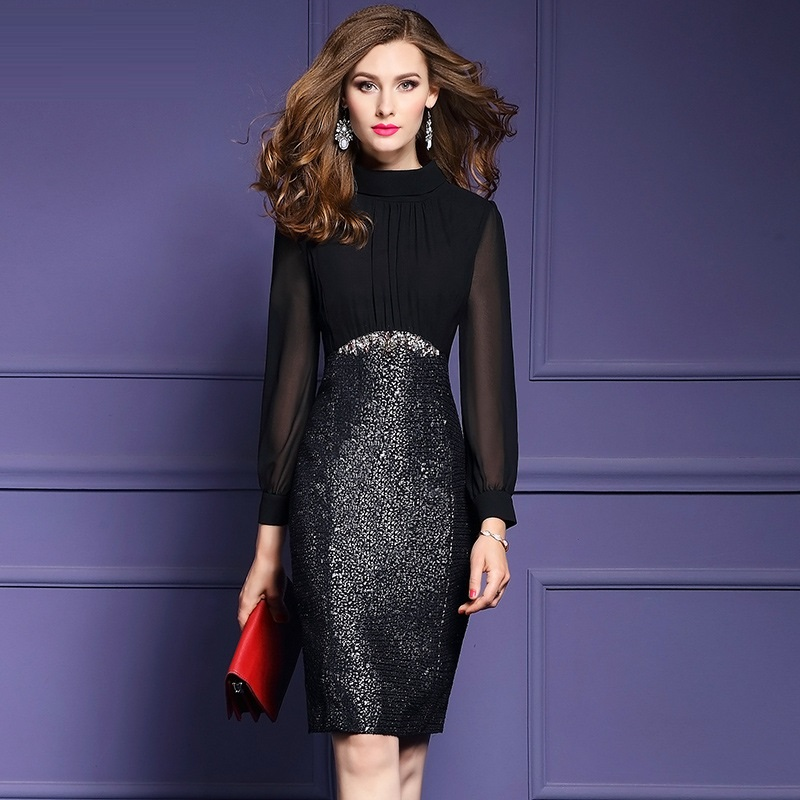 Work Office Business Cocktail Party Sheath Dress 2018 new Spring ...