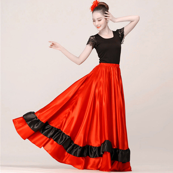 5ac605c0f Nueva falda flamenca falda de baile de salón Flamenco Salsa latina falda  para mujeres/España ...
