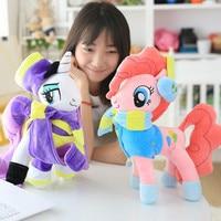 35CM Top quality cute plush toy colorful baoli cartoon angel fly horse unicorn pony stuff doll birthday christmas gift present