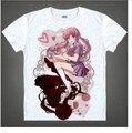Anime The Future Diary Gasai Yuno Clothing DIY Costume White T-shirt tee version 39 tshirt