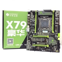 HUANANZHI X79 LGA2011 DDR3 PC Desktops LGA 2011 Computer Motherboards Suitable for server ECC ECC REG RAM