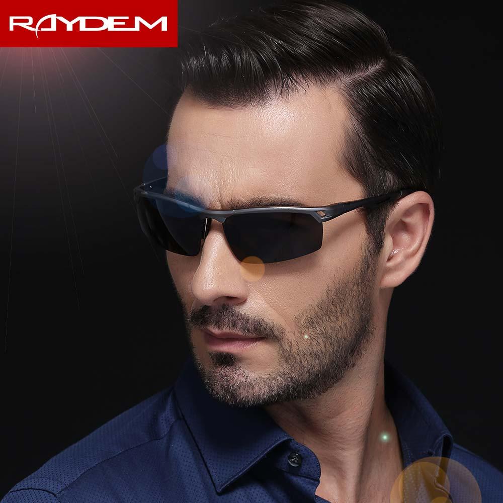 2018 Raydem Cool hommes lunettes De soleil polarisées sport lunettes De soleil conduite lunettes De soleil Oculos De Sol mâle en aluminium magnésium lunettes