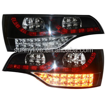 For Audi Q7 LED Tail Light Rear lamp 2006-2010 year Clear cover black Housing SN