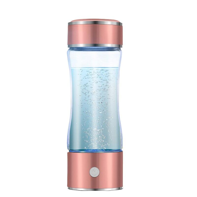 IALJ Top 400 500ML Portable Hydrogen Rich Water Maker Ionizer Generator Bottle Cup Xmas Gifts