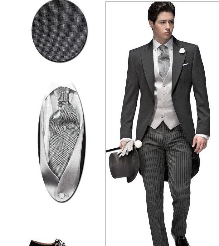 ᗗventa superior nuevo personalizar gris elegante boda del smoking jpg  667x770 Esmoquin ropa de hombre para ec6101185fc