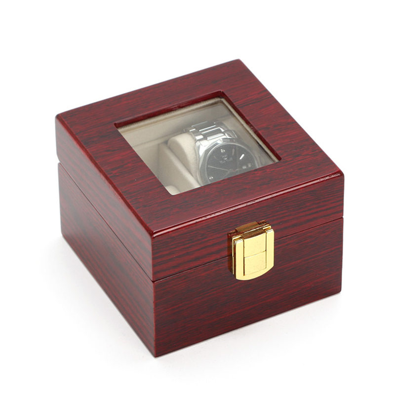 3 Slots Watch Boxes Display Box Case Red Red Wood Watch Organizer - Aksesorë për orë - Foto 3