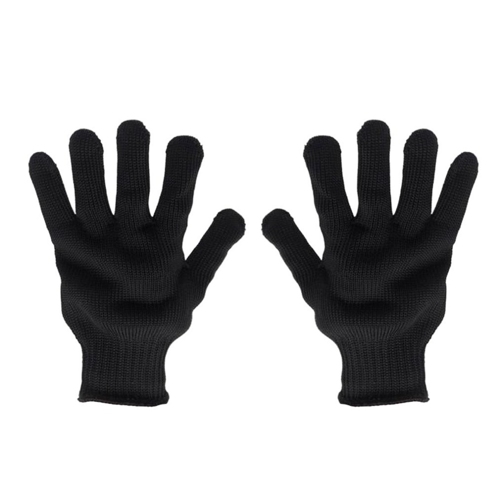 Working Safety Gloves Cut-Resistant Stainless Steel Wire Anti-Cutting Gloves Protective Hand Finger Gloves Cutting Tools 2017new style 316l anti cut gloves with stainless steel safety protective gloves with a anti cut hppe gloves 2 pairs
