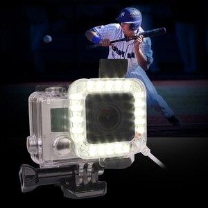 Image 5 - Andoer usb 20 led 액션 카메라 렌즈 링 슈팅 nightshot 플래시 필 라이트 램프 gopro hero 4 3 + 3 방수 하우징 케이스