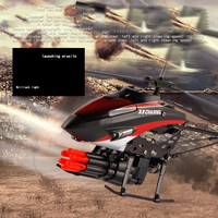 WLToys V398 Cool Missile Launching 3 5CH RC Remote Control Helicopter With Gyro Green Red Free
