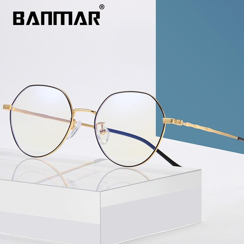 BANMAR Optical Anti Blue Light Glasses Men Gold Rays Eyewear Blocking Radiation Protection Gaming Computer A2107