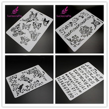 Stencils Craft Flower Lucia Paper-Cards Scrapbook Stamping for Wall-Paint Embossing I0512