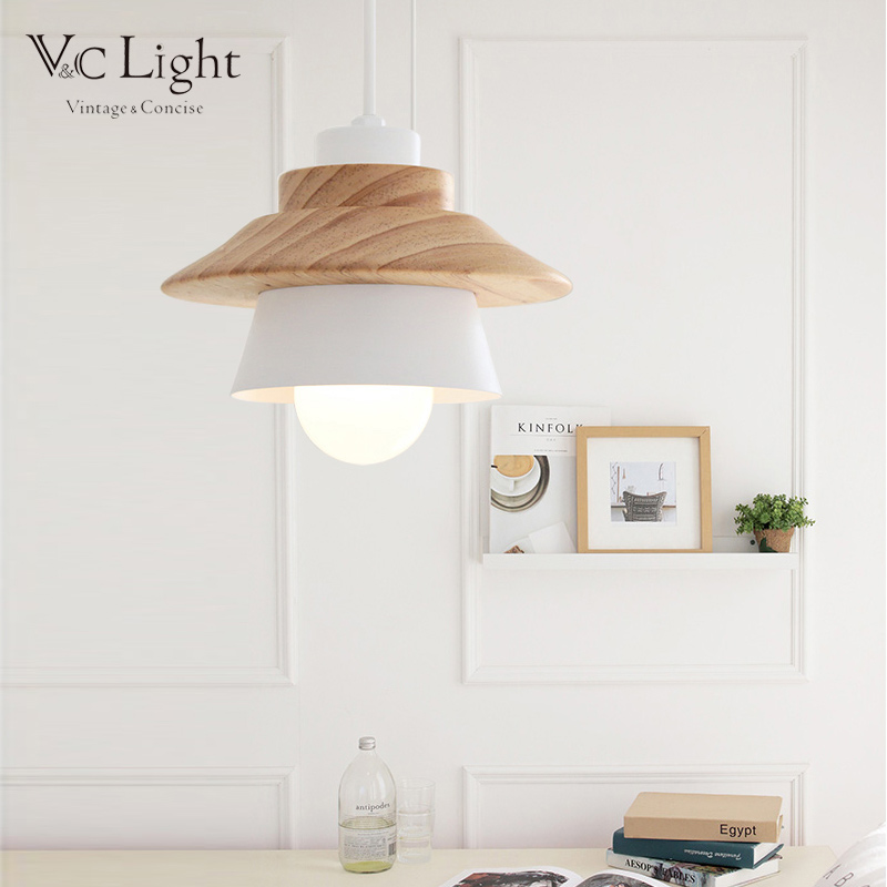 Scandinavian suspended light e27 wood luminaria pendentes abatjour scandinavian suspended light e27 wood luminaria pendentes abatjour para quarto luminaire suspendue lamp shades for kitchen foyer in ceiling lights from aloadofball Image collections