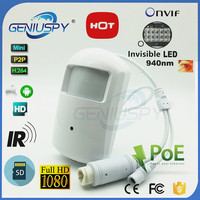 GENIUSPY Audio POE 940nm Invisible 1080P PIR IP Camera SD Card 2 0 MP Night Vision