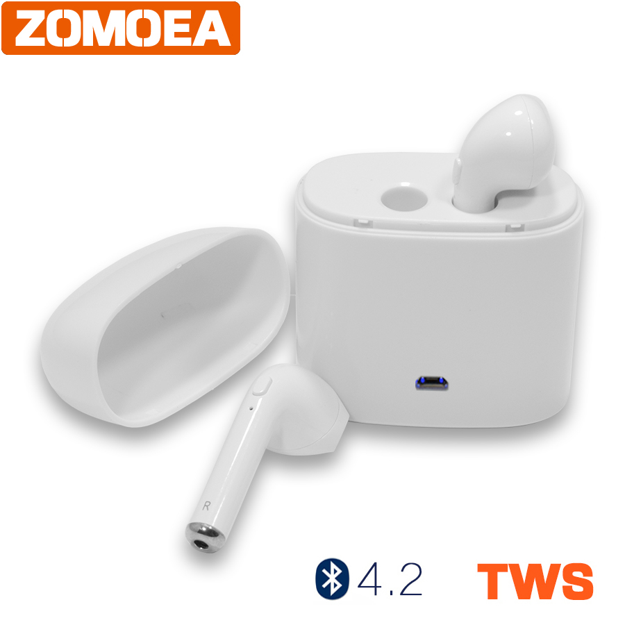 Mini Wireless Bluetooth 4.2 TWS Earphone Stereo Headset With Microphone Fone De Ouvido Universal Handsfree For iPhone Android bluetooth earphone headphone for iphone samsung xiaomi fone de ouvido qkz qg8 bluetooth headset sport wireless hifi music stereo