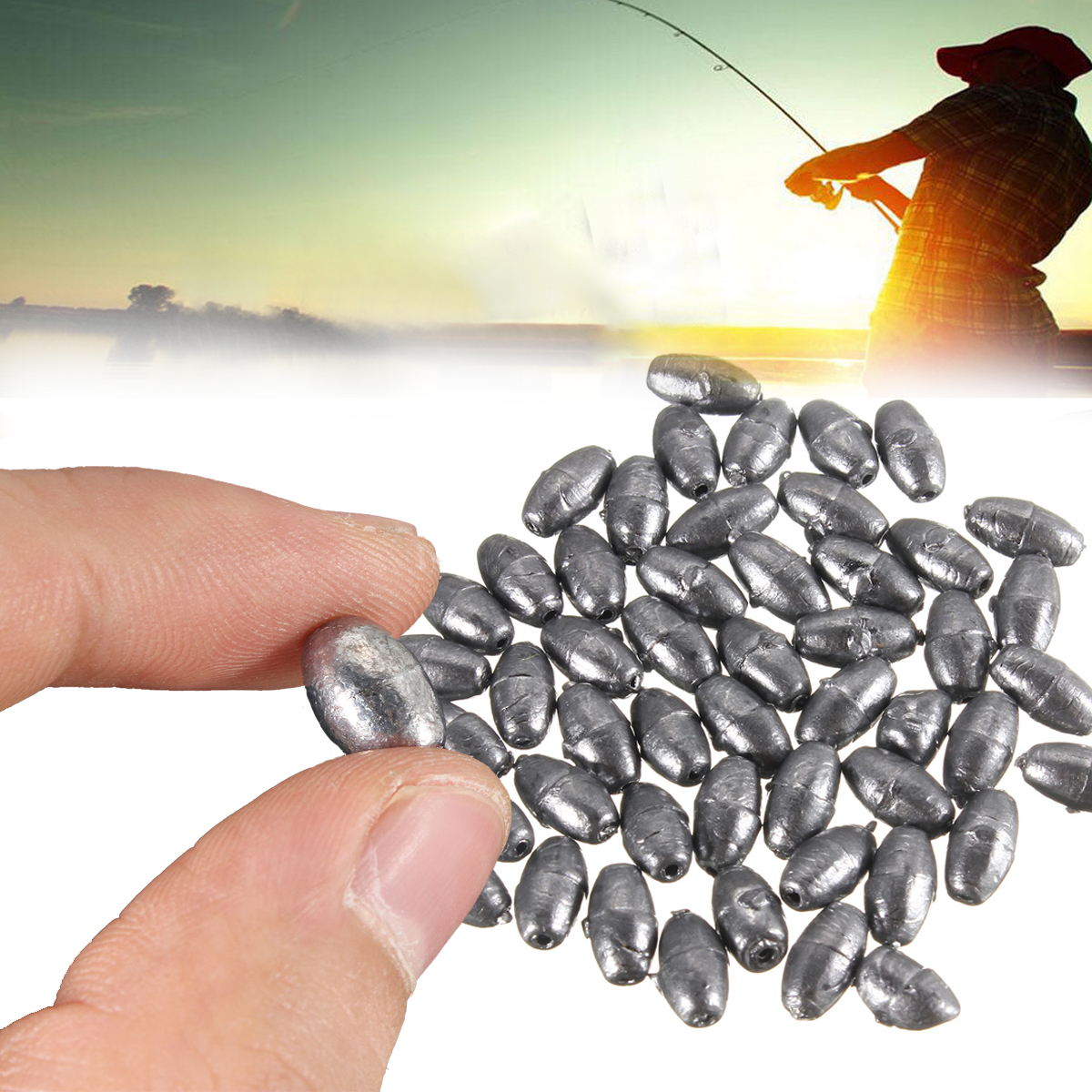50pcs Olive Shape Pure Lead Sinkers Fishing Sinker Fishing Tackle for Saltwater Bass Fishing 0.2g 0.35g 1g 2g 3g 4g 5g 6g 8g цена 2017