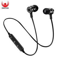 SWZYOR Sports Wireless Bluetooth Earphone Headset Bass Stereo Running In-ear Sweatproof Earphone with Microphone Earpiece