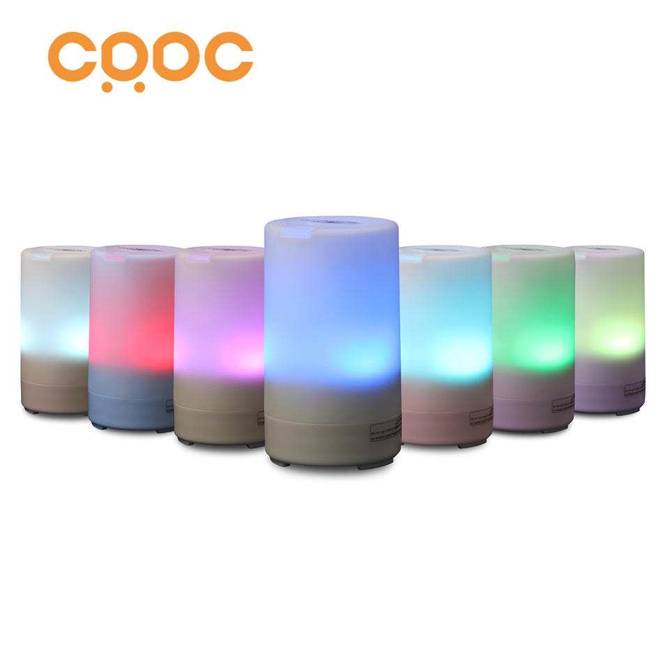 CRDC USB Car Essential Oil Diffuser Air Refresher Ultrasonic Aromatherapy Diffusers with 7 Colorful LED lights for Office&Travel цены онлайн