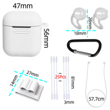 5 in 1 Accessories For AirPods Case Cover AirPod Luxury Etui Dust Guard Silicone Air Pods Case for Apple AirPods 2 Case Cute(China)