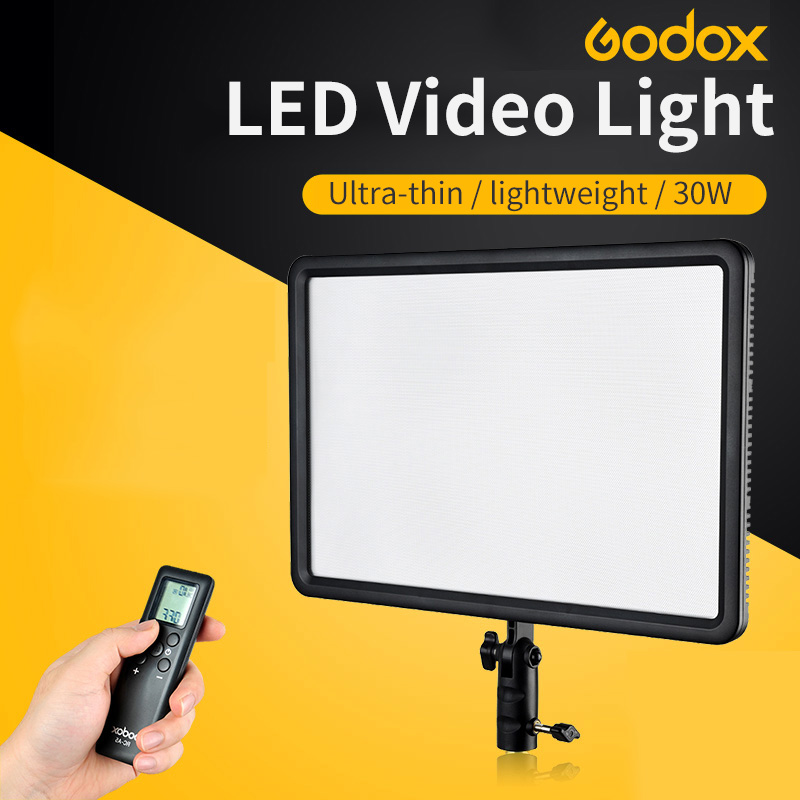 LEDP260C Ultra-thin 30W GODOX lightweight LED Video Light Panel Lamp for Digital DSLR Camera Studio Photography