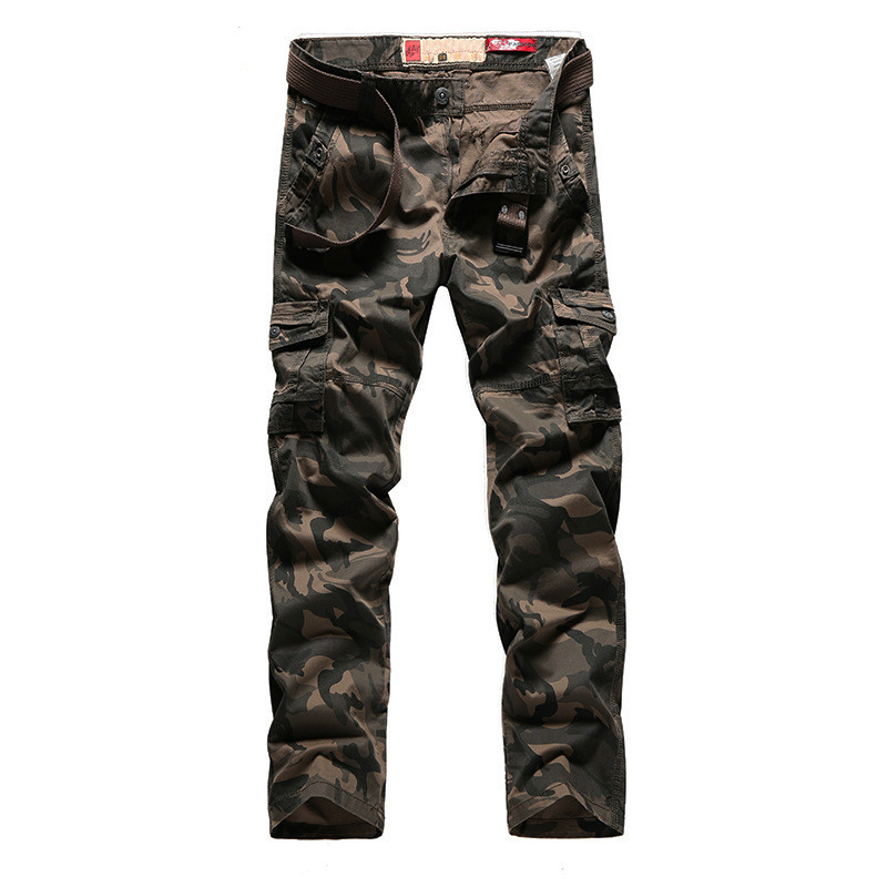 Men Pants New Joggeres 2019 Spring Camouflage Casual Pants Military Trousers Straight Many Pockets Camo Pants Men  Puls Size