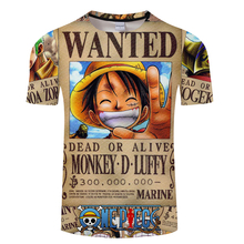 28574e05 Cosmos 2019 Newest Hipster 3D t shirt Boy Anime One Piece Monkey D Luffy  Print t