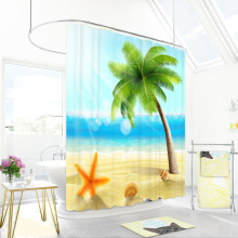 Curtain-Partition Waterproof Bathroom 1800x1800mm Coconut Mildew Thickening Big-Ocean
